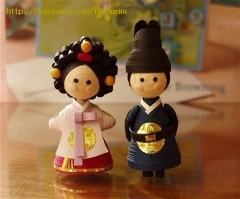 quilling tutorial doll 처음 만들었던 왕과 비 그리고 업글 버전 craft pinterest wedding