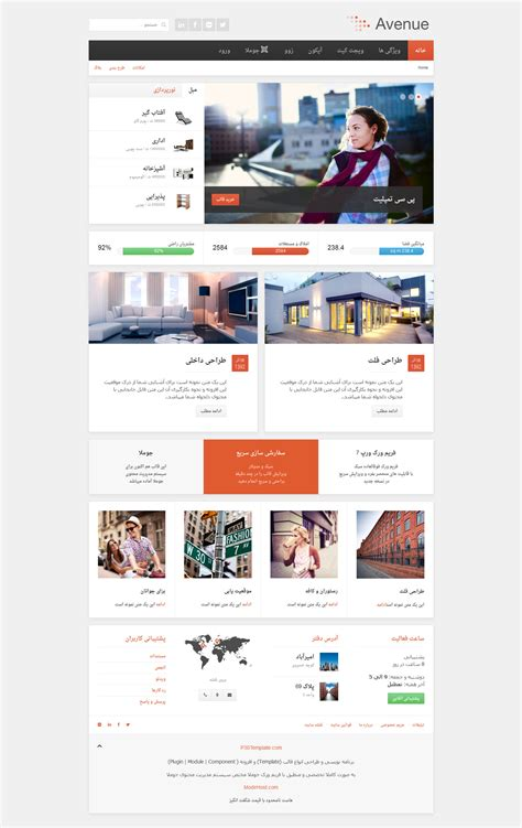 template joomla yoo infinite yoo avenue قالب جوملا