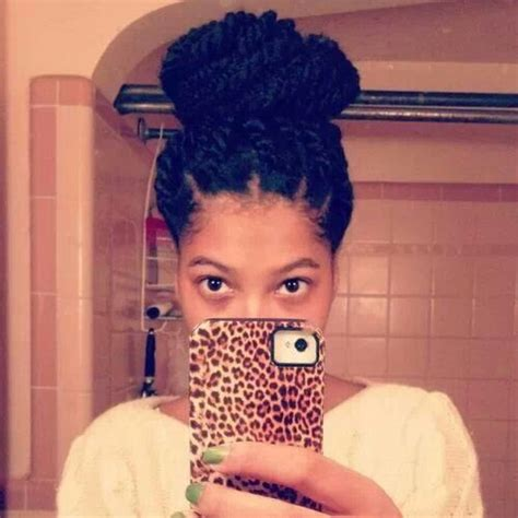 havana twist updos havana twist bun updo my natural hair journey pinterest