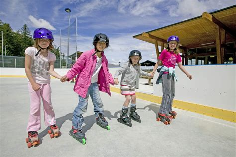 Skating In Skating Rink And Snow Tubing Slope Tekapo Springs