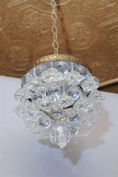 outstanding ceiling mount fixture with blown glass