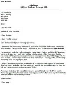 Free Sles Of Cover Letters by Cover Letter Exles For Sales Assistant Free Cover Letter