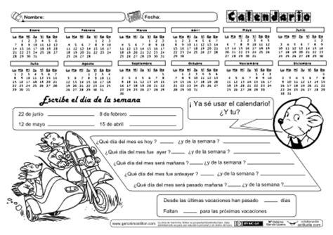 El Calendario Worksheet Trabajando El Calendario Actiludis