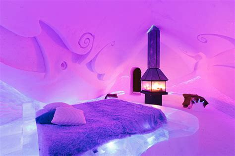 ice bedroom suite 6 top frozen hotel rooms and hotels made of snow and ice
