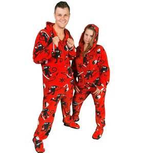 Pajamacity ninja monkey red fleece hooded footie pajamas with drop