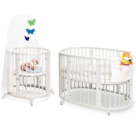 Stokke Crib System by Stokke Sleepi System I Bassinet And Crib In White With