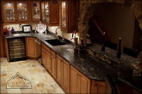 black granite table tuscan kitchen mediterranean