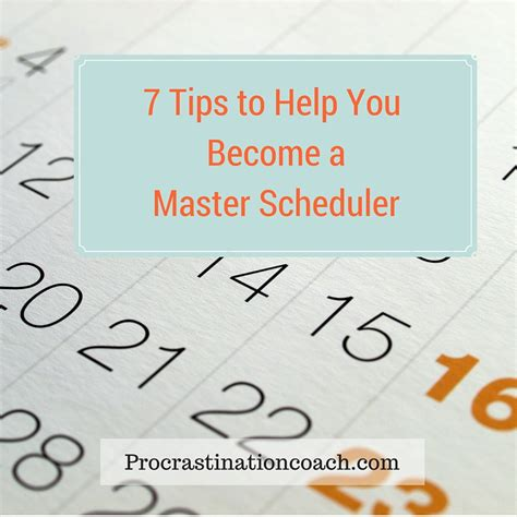 7 Tips On Being A Substitute by 7 Tips To Help You Become A Master Scheduler
