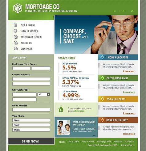 Mortgage Website Template 9637 Mortgage Website Templates