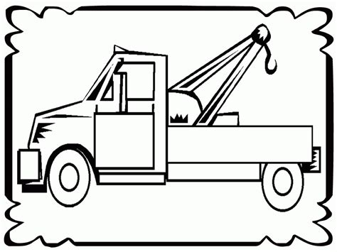 coloring page tow truck tow trucks for kids coloring home