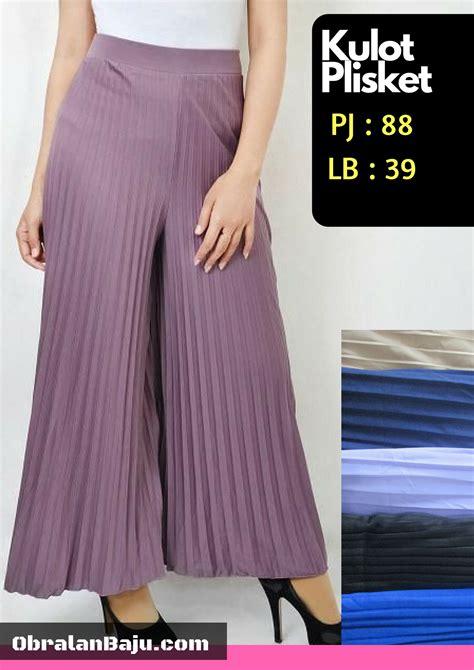 Grosir Celana Plisket produsen celana kulot plisket murah