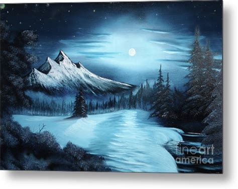 bob ross painting poster winter painting a la bob ross painting by bruno santoro