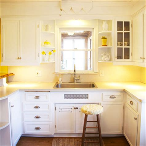 yellow kitchens with white cabinets after illuminated maneuverable workspace notes of