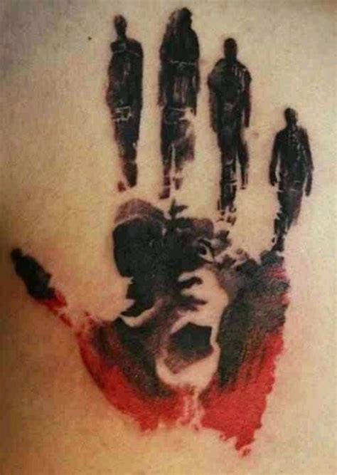 baby hand tattoo designs 25 great handprint tattoos ideas