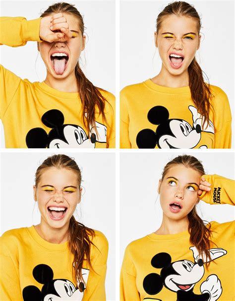 Bershka Sweatshirt Mickey Print mickey print sweatshirt new bershka mickey print