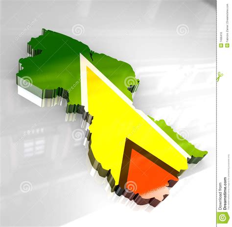 the upward spiral of land prices in guyana kaieteur news 3d flag map of guyana royalty free stock image image