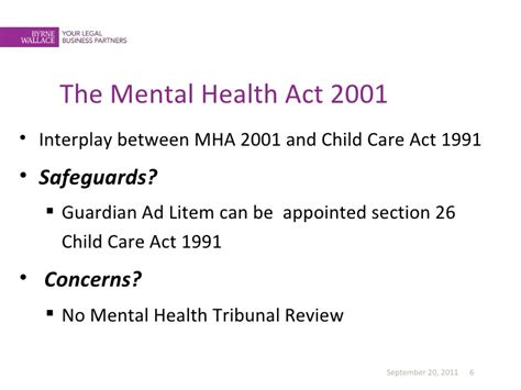 section 20 care order sinead kearney children and mental health pres 13 sep 2011