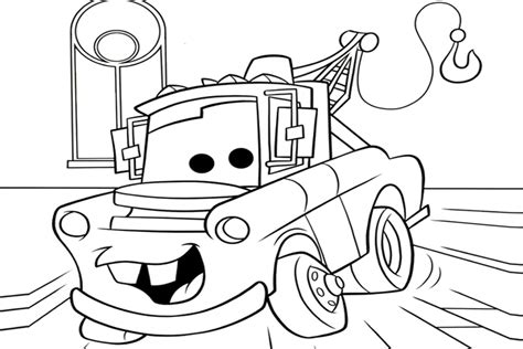 coloring pictures of mater from cars cars coloring pages best coloring pages for kids