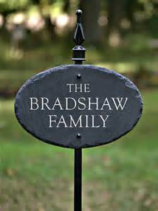 cottage name plaques house name plaque lawn stake carved slate by