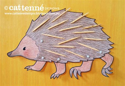 craft paper australia echidna craft with a that hides when he s scared