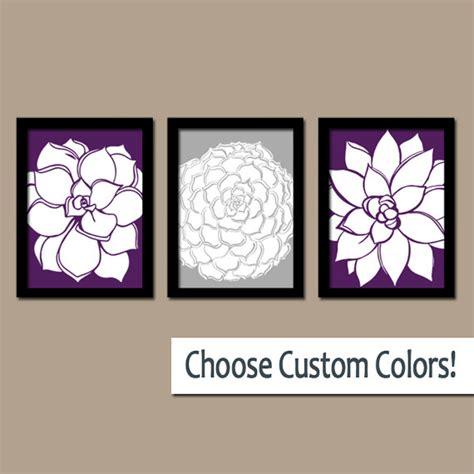 purple printable wall art purple gray wall art canvas or prints bathroom by trmdesign