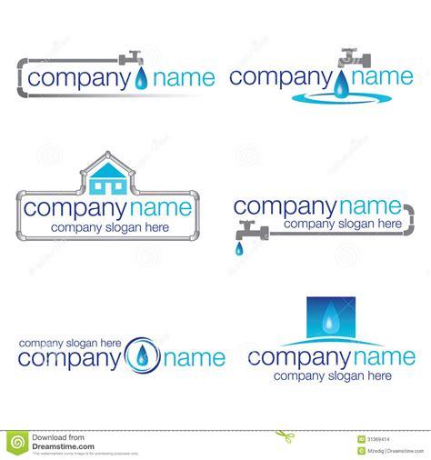 Plumbing Company Names by Set Of Six Plumbing And Water Logos Vector Stock Vector