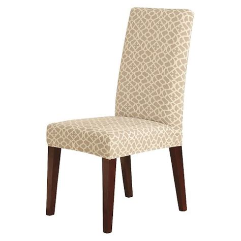 short dining chair slipcover sure fit stretch ironworks short dining room cha target