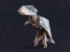 Origami Dinosaur Band - dollar bill origami michael air money dollar