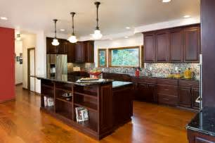 Kitchens With Cherry Cabinets And Wood Floors Cherry Cherry Kitchen Cabinets
