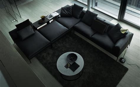 black sofa interior design ideas black leather sectional sofa interior design ideas