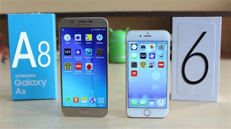 Samsung A8 Vs Iphone 5s samsung galaxy a8 vs iphone 6 speed multitasking test