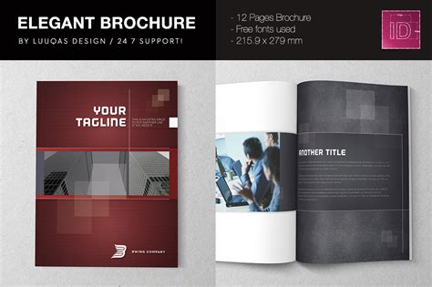 elegant brochure template brochure templates on creative