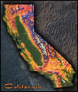 topo map california colorful california map topographical physical landscape
