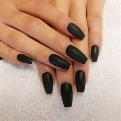 Nail Black matte nails nails10