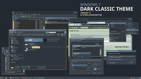 themes for windows 7 design dark classic theme by slybug on deviantart