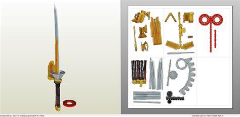How To Make A Paper Power Ranger Sword - power rangers spin sword pepakura eu