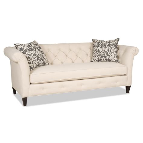 tufted back leather sofa tufted back sofa smalltowndjs