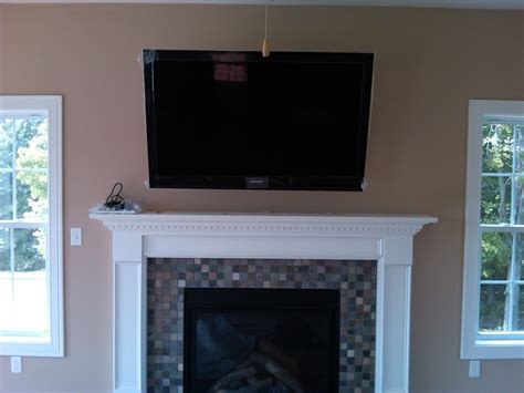 Gas fireplace and flat screen tv wall unit in addition flat screen