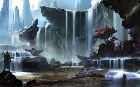imagenes de paisajes fantasticos fondo de pantalla paisaje fantastico con cascadas hd