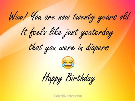 Happy 20 Birthday Wishes 20th Birthday Wishes And Quotes Cards Wishes