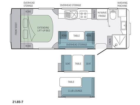 caravan floor plans jayco silverline 21 65 7 rv towing caravans specification