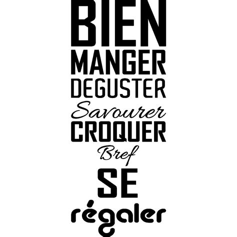 Stickers Cuisine by Sticker Cuisine Bien Manger D 233 Guster Croquer Stickers