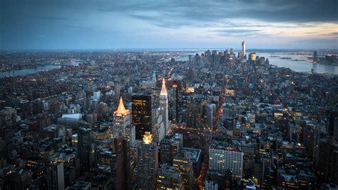 imagenes 4k new york fondo de pantalla looking at manhattan from empire state
