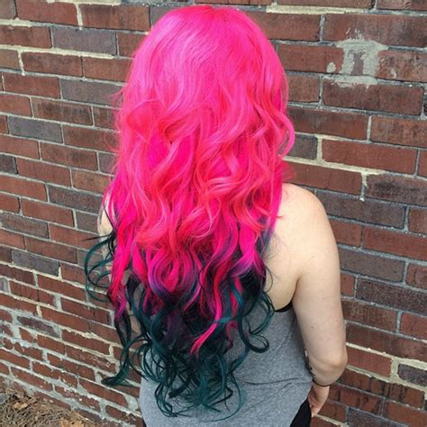 bright color ombre hairstyles how to dip dye your hair at home with three different