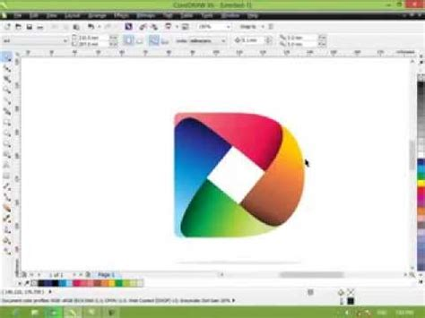 tutorial coreldraw membuat logo youtube tutorial cara membuat simple logo 3d tutorial corel draw