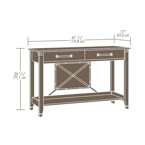 console table in washington cherry 414443