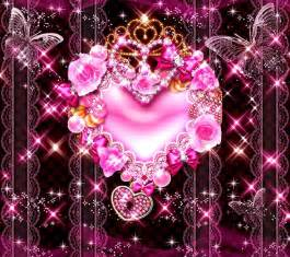 jewel heart glittery pink wallpaper jewel heart wallpaper pink jewels heart