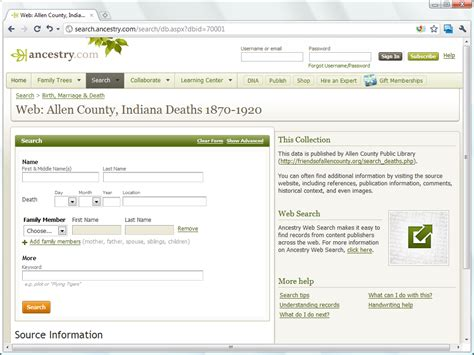 Website You Can Search Ancestry Websearch