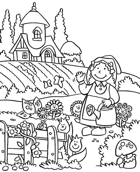 preschool coloring pages garden garden coloring pages coloring page
