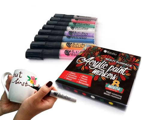 acrylic paint markers canvas permanent paint markers for glass painting ceramic